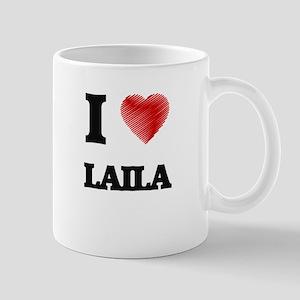 I Love Laila Mugs