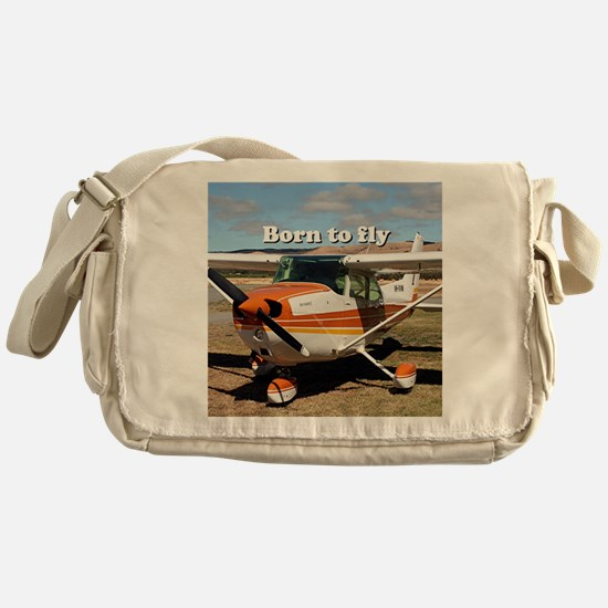 Cute Plane Messenger Bag