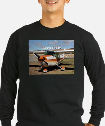 Born to fly: high wing aircraf Long Sleeve T-Shirt