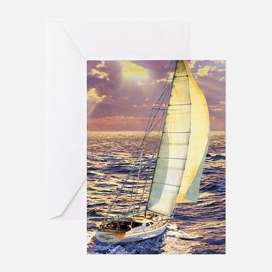 Cute Ship nautical compass sail pirate Greeting Card