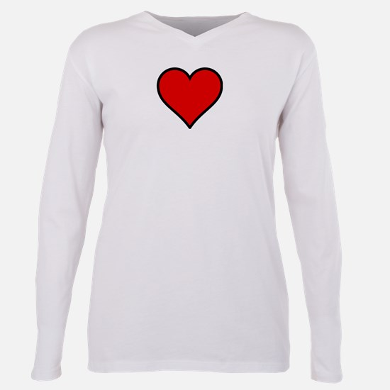 Unique Love Plus Size Long Sleeve Tee