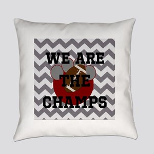 Champs- Personalize paw football Everyday Pillow