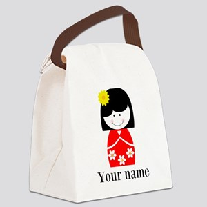 Girl (p) Canvas Lunch Bag