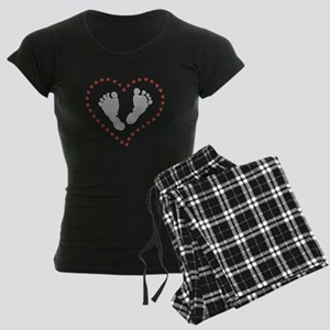 Baby Footprints in Heart of Hearts Pajamas