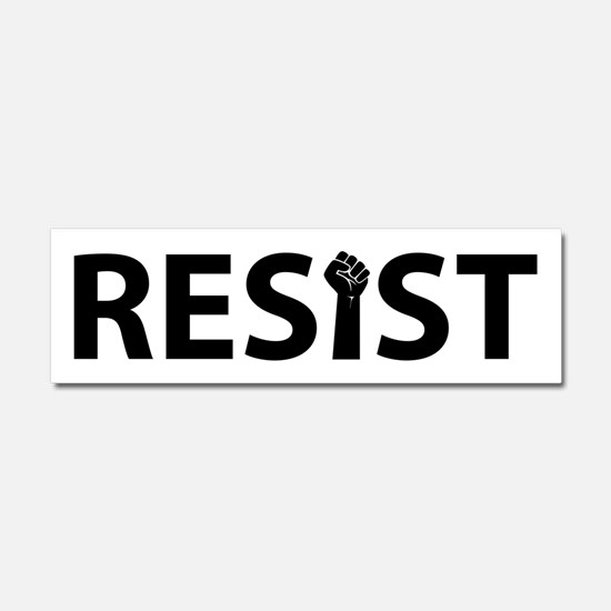 Resist With Fist Car Magnet 10 x 3