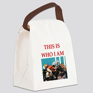 i love horse racing Canvas Lunch Bag