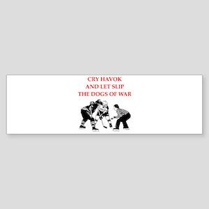 i love hockey Bumper Sticker