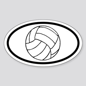 Volleyball Ball Oval Sticker