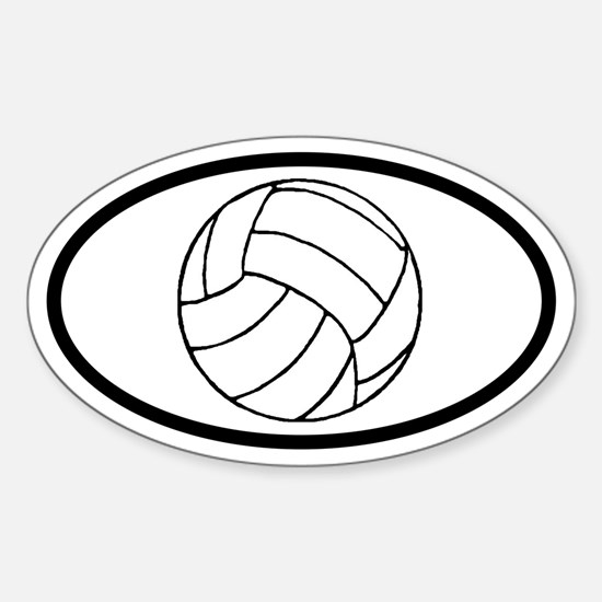 Volleyball Ball Oval Decal