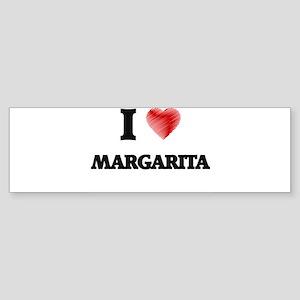I Love Margarita Bumper Sticker