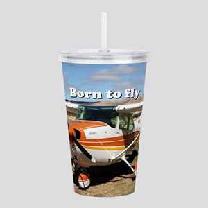 Born to fly: high wing Acrylic Double-wall Tumbler