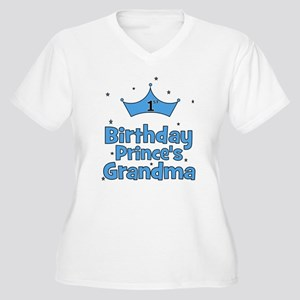 1st Birthday Prince's Grandma Women's Plus Size V-