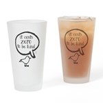 It Costs Zero to Be Kind Word Mug Drinking Glass