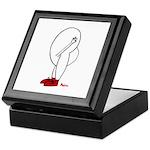 HEAD UP BUTT GUY - Tile Top Mahogany Box