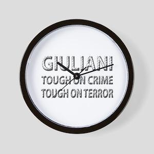 Giuliani tough on terror Wall Clock