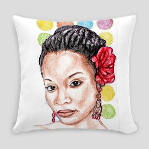 Black Girl Everyday Pillow