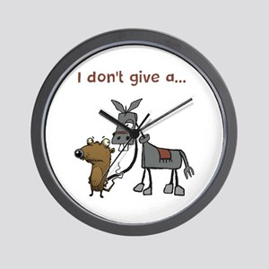 I don't give a... Wall Clock