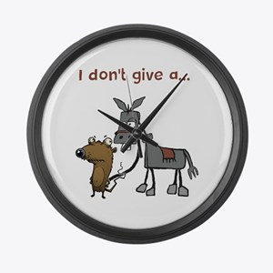 I don't give a... Large Wall Clock