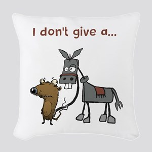 I don't give a... Woven Throw Pillow