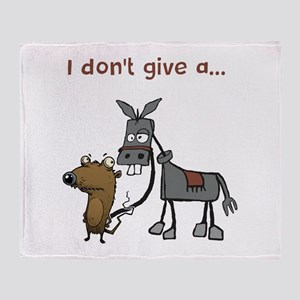 I don't give a... Throw Blanket