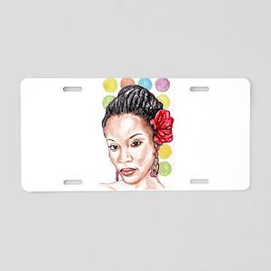 Black Girl Aluminum License Plate