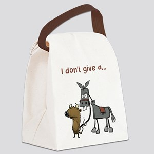 I don't give a... Canvas Lunch Bag