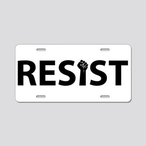 Resist With Fist Aluminum License Plate