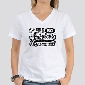60th Birthday Women's V-Neck T-Shirt