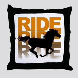 Horse ride Throw Pillow