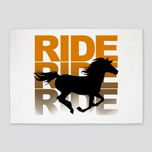 Horse ride 5'x7'Area Rug