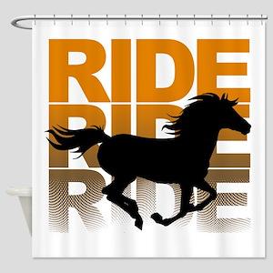 Horse ride Shower Curtain