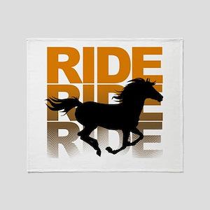 Horse ride Throw Blanket