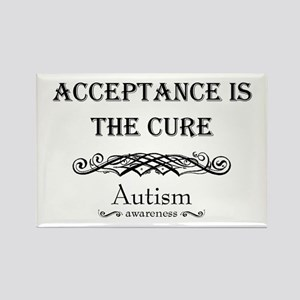 Autism ~ Acceptance is the cure Rectangle Magnet