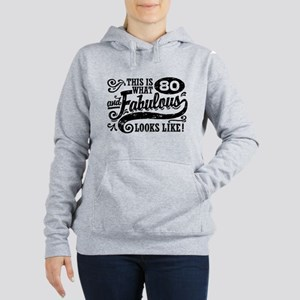 80th Birthday Women's Hooded Sweatshirt