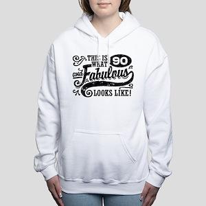 90th Birthday Women's Hooded Sweatshirt