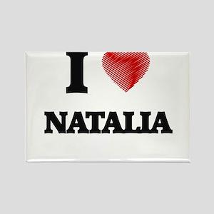 I Love Natalia Magnets