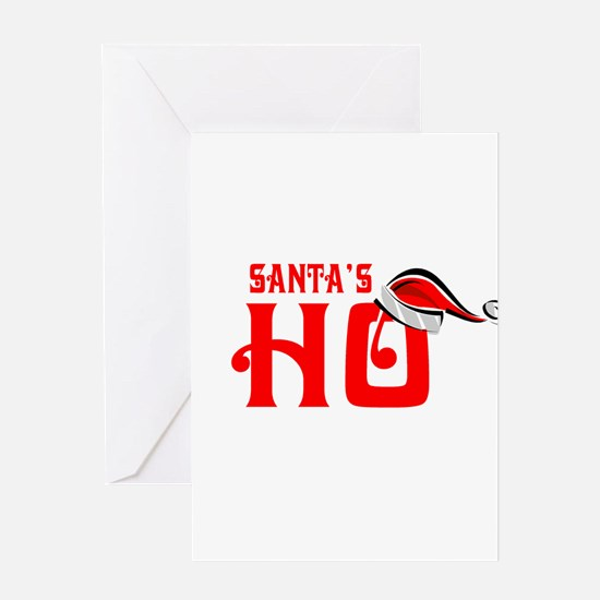 Santa's Ho Greeting Cards