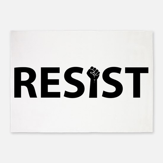 Resist With Fist 5'x7'Area Rug