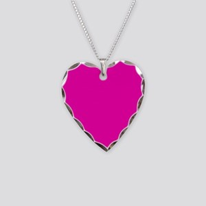 Neon Pink Solid Color Necklace Heart Charm