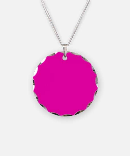 Neon Pink Solid Color Necklace