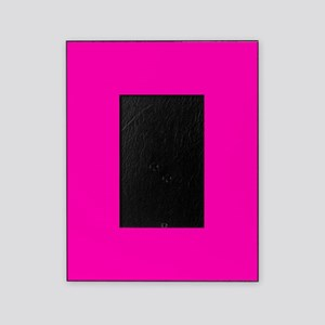 Neon Pink Solid Color Picture Frame