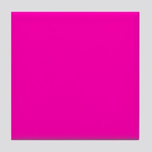 Neon Pink Solid Color Tile Coaster