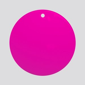 Neon Pink Solid Color Round Ornament