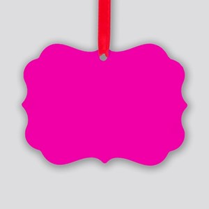 Neon Pink Solid Color Picture Ornament