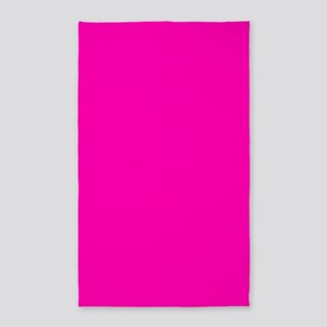 Neon Pink Solid Color Area Rug