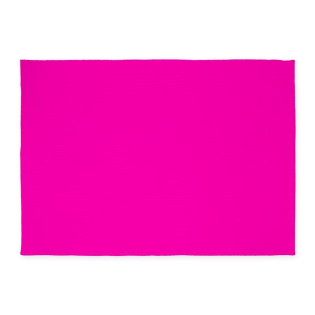 Neon Pink Solid Color 5'x7'Area Rug By Admin_CP133666635