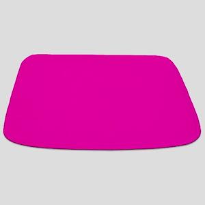 Neon Pink Solid Color Bathmat