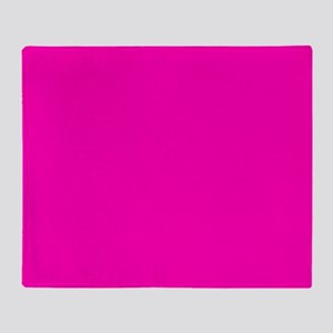 Neon Pink Solid Color Throw Blanket