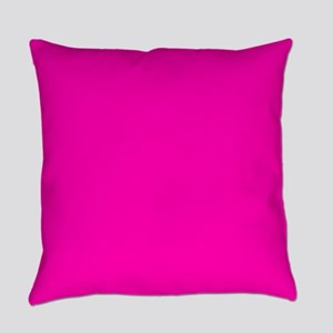 Neon Pink Solid Color Everyday Pillow