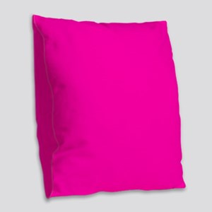 Neon Pink Solid Color Burlap Throw Pillow